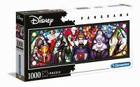 PUZZLE 1000 Disney Panorama Puzzle Bösewichte - CLEMENTONI 39516