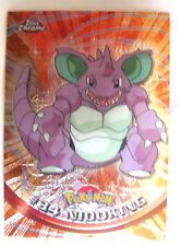 Nidoking 2000 Topps Chrome Pokemon Rattata Chrome Card#19-Spectra Chrome Card
