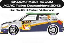 DECALS 1/24 SKODA FABIA S2000 #84- PADDON -RALLYE ADAC ALLEMAGNE 2013 -MFZ DC245