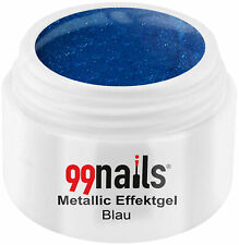 Metallic Effektgel Blau 5ml Farbgel UV Nagel Gel Effektfarbe Metallic Nails
