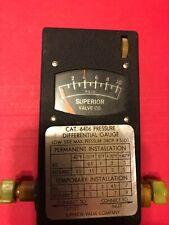 Superior Valve Co Differential Pressure Indicatorgauge For Hvacr 0 10 Psid