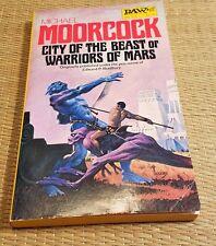 City of the Beast or Warriors of Mars-Michael Moorcock-DAW PB 1st Printing-1979