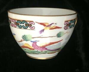 Tasse Porcelaine de France Pillivuyt décor d'oiseaux signé