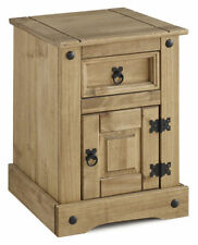 Pine Bedside Tables & Cabinets with Cupboard