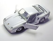 Porsche 959 (Burago) Model Car by Testors - WHITE - 1:24 - VINTAGE