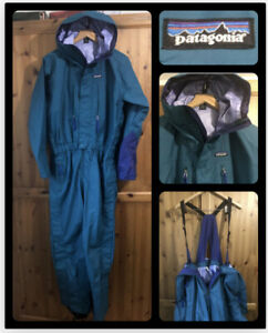 PATAGONIA : Women's All In One Ski Suit With Bib Braces : UK 10 : Good Co