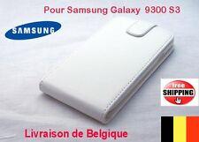 COQUE CASE HOUSSE ETUI SAMSUNG GALAXY S3 i9300 SIMILI CUIR VERTICAL Blanc