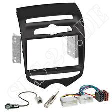 HYUNDAI ix20 Doppel-DIN Autoradio Radioblende schwarz Einbaurahmen Adapterkabel