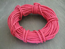 10 Metres Pink Waxed Cotton Cord 1.5mm Beading Thread Jewelry Making findings
