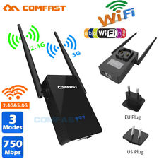 COMFAST 750Mbps Dual Band 2.4/5G Wireless Repeater Router WiFi Range Extender CA