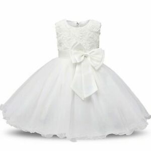 Ivy Flower Girl Formal Dress Christening Holy First Communion Gown FREE Headband