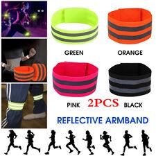 2PCS Reflective Band Armband Wristband Ankle Leg Strape for Night Jogging,Biking
