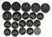 More details for 5p five pence royal mint  5p proof coins.( 20 ) all different - no duplications.