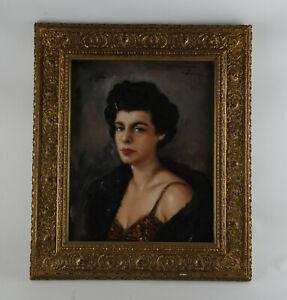 Ölgemälde, Damen Portrait. Eingerahmt, signiert Nitschke. Öl auf Leinwand