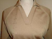 True Vintage 1960/70s Mod Top Knitwear 10-12 Trevira blouse raglan sleeve