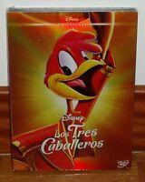LOS TRES CABALLEROS-CLASICO DISNEY Nº 7-DVD-NUEVO-NEW-FUNDA DE CARTON-SLIPCOVER
