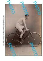 6 x 4 OLD PHOTO OF J PARSONS TRACK CYCLIST c1910 2
