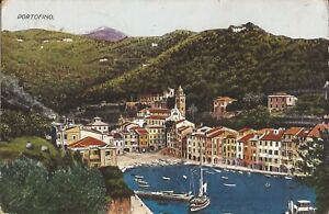 Portofino, ITALY - BIRDSEYE - 1932 - Italian Riviera - Genoa
