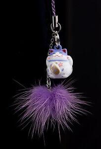 Jingle Jewel Of Phone Bag Cat Japanese Maneki Neko Kawaii violet-FS5-460
