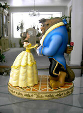 """Large 14"""" Beauty and the Beast Ballroom Scene Sculpture w/ Base Removeable Rose"""