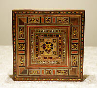 Wooden Jewellery Box handmade with Mosaik inlay,Hamburg,Damaskunst K 2-2-411