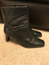 markon boots Black Leather Ankle Boots Size 6