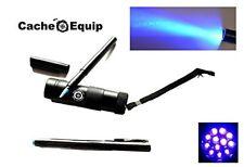 UV Cacheequip geocaching Lampe 12 LED mit UV Stift Schwarzlicht Taschenlampe