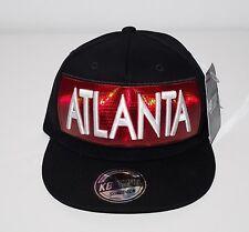 NEW NWT KB ETHOS AUTHENTIC ATLANTA SNAPBACK CAP HAT BLACK WITH RED HOLOGRAM
