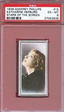 1936 Stars of the Screen Card #15 KATHARINE HEPBURN Spitfire Actress PSA 6