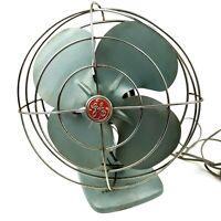 """Vintage General Electric GE 10"""" Blades Turquoise Desk Fan  Works"""