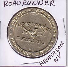 Casino $1 Token Chip - Roadrunner - Henderson, Nevada Closed 2002 Obsolete
