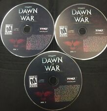 Warhammer 40,000: Dawn Of War PC 3 CD-ROMs Relic 2004 for Windows 98/Me/2000/XP