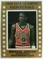 1984 84 Michael Jordan USA Olympic Basketball Card, Team USA Promo !