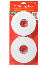 2 x Heavy Duty Double Sided Mounting Tape - Sticky Foam Adhesive Craft Tape