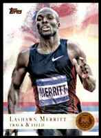 2012 TOPPS OLYMPICS COPPER LASHAWN MERRITT TRACK & FIELD #22 PARALLEL