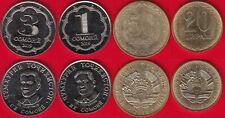 Tajikistan set of 4 coins: 20 diram - 3 somoni 2019 UNC