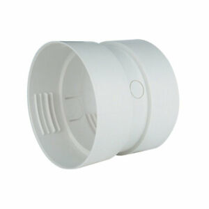 DC4ZW 4in.  Dundas Jafine White Dryer Lint Duct Connector