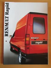 Renault R5 Rapid Prospekt, brochure, cataloque, 7/86