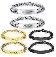 ID Partner Edelstahl Armbänder mit Strass + Gravur nach Wunsch + Box , Armband ♥