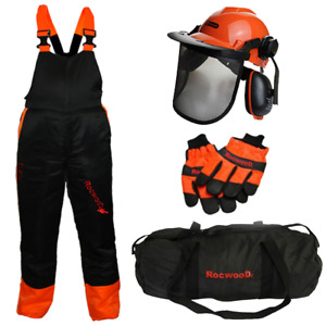 Chainsaw Protection Safety Protection Kit Bib And Brace Trousers Gloves Helmet