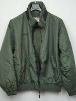 Men's Columbia Bomber Jacket Fleece Lined Size Large Green