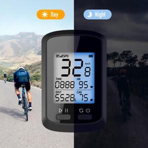 GPS Smart Bike Cycling Computer Black For Monitoring Speed Waterproof UK
