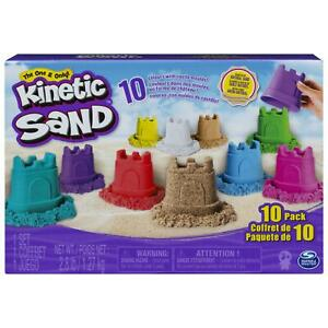 Kinetic Sand Castle Containers 10-Colour Pack Mix Mould Creative Play Shapes