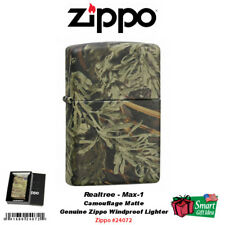 Zippo Camo Matte Pocket Lighter, Realtree Max-1 Camouflage #24072