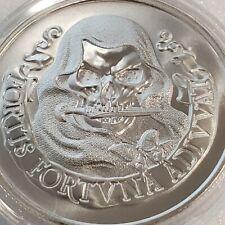 Fortis Fortuna Adiuvat 1 oz .999 Silver skull Memento Mori Fortune Favors Brave