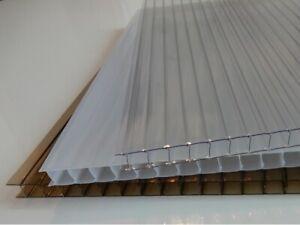 10mm Polycarbonate Clear/Bronze/Opal 2m/2.5m/3m/3.5m/4m Lengths 1050mm Wide
