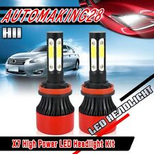 H11 H9 H8 CREE COB LED Headlight Kit 6000K 1400W 4-Side Low Beam Bulb High Powe