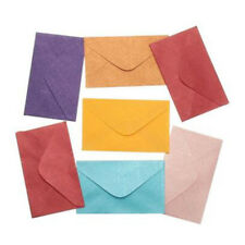 50Pcs Vintage Retro Small Colored Blank Mini Paper Envelopes Wedding Party YI