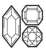 Darice Craft Dies GEMS Diamond 3 pieces Die Cut Embossing Stencil