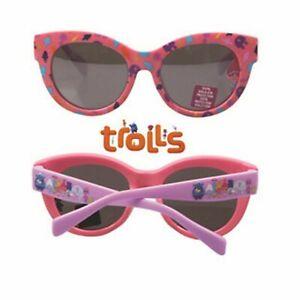 Children Kid Girl Trolls UV protect Square Pink eye sunglasses Birthday Gift